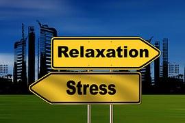 ストレスとリラクゼーション看板